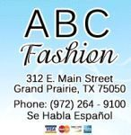 ABC Fashion Coupon Codes & Deals